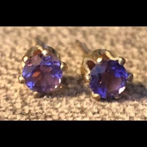 Jewelry - Genuine Amethyst Gold-Filled Earrings.